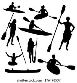 Canoe Silhouette Images Stock Photos Vectors
