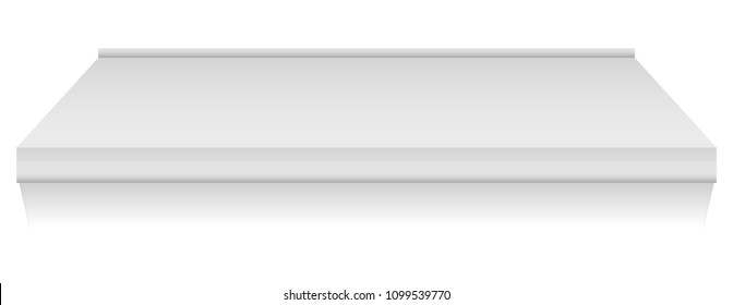 Canopy mockup. Realistic illustration of canopy vector mockup for web design isolated on white background