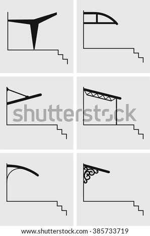 Canopy polycarbonate  above the door visor canopy over the entrance canopy over the  sc 1 st  Shutterstock & Canopy Polycarbonate Above Door Visor Canopy Stock Vector (Royalty ...