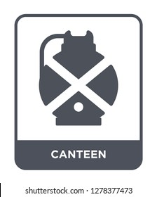 canteen icon vector on white background, canteen trendy filled icons from Camping collection, canteen vector illustration