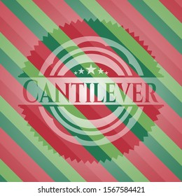 Cantilever christmas style emblem. Vector Illustration. Detailed.