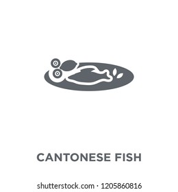 Cantonese Fish icon. Cantonese Fish design concept from Chinese Food collection. Simple element vector illustration on white background.