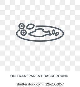 Cantonese Fish icon. Cantonese Fish design concept from Chinese Food collection. Simple element vector illustration on transparent background.