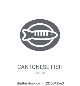 Cantonese Fish icon. Trendy Cantonese Fish logo concept on white background from Culture collection. Suitable for use on web apps, mobile apps and print media.