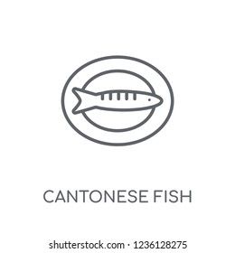 Cantonese Fish linear icon. Modern outline Cantonese Fish logo concept on white background from Culture collection. Suitable for use on web apps, mobile apps and print media.