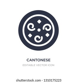 cantonese seafood soup icon on white background. Simple element illustration from Food and restaurant concept. cantonese seafood soup icon symbol design.