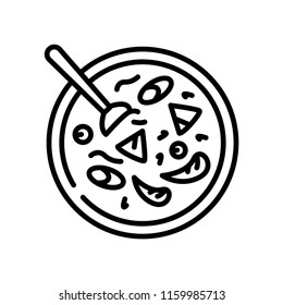 Cantonese seafood soup icon vector isolated on white background, Cantonese seafood soup transparent sign
