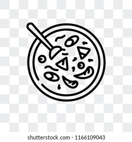 Cantonese seafood soup vector icon isolated on transparent background, Cantonese seafood soup logo concept