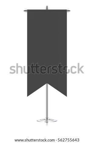 canvas fabric black blank flag medieval stock vector royalty free