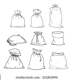 Canvas sack vector. canvas bag. Illustration of a canvas sack