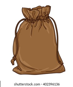Canvas sack vector. canvas bag. Illustration of a canvas sack.