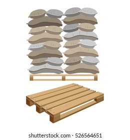 Canvas sacks, vector illustration