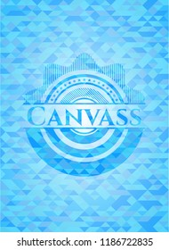 Canvass light blue mosaic emblem