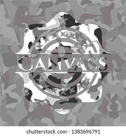Canvass on grey camouflage texture