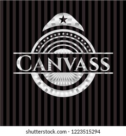 Canvass silver emblem or badge