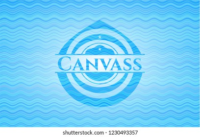 Canvass water emblem.