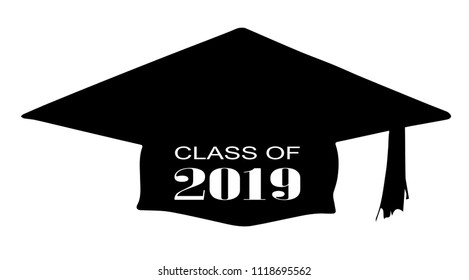 A cap with the legend Class of 2019 over a white background