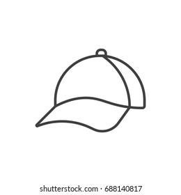 Cap line icon.
