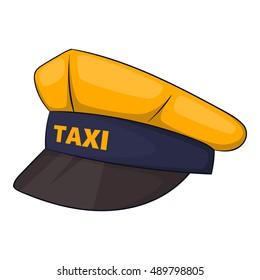 9de8224b Cap taxi driver hat icon. Cartoon illustration of cap taxi driver hat  vector icon isolated