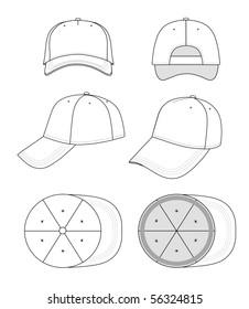 black cap stock vectors images vector art shutterstock 1880s Toys cap template