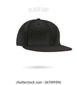 Cap template vector black color
