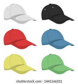 Cap vector design illustration isolated on white background