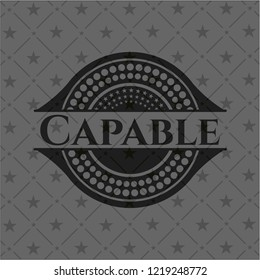 Capable black emblem. Vintage.