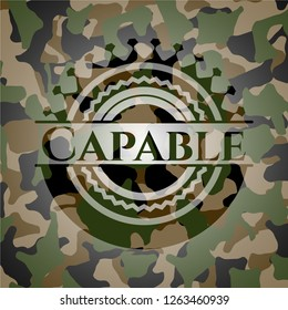 Capable camouflaged emblem
