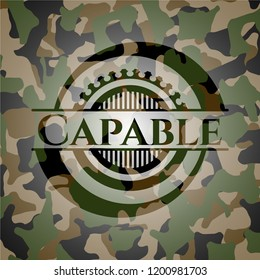 Capable on camo pattern