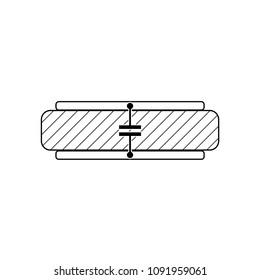Capacitive Pressure Sensor. Vector Illustration.