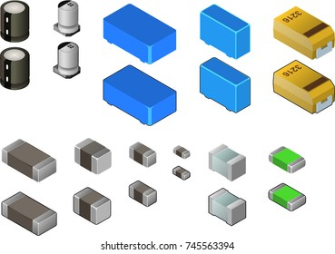 Capacitor Collection I Isometric View