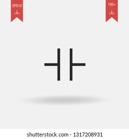 Capacitor linear vector icon. Modern outline Capacitor logo concept on white background from Linear Electronic Circuits collection. Suitable for use on web apps, mobile apps and print media.