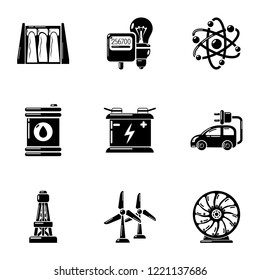 Capacity icons set. Simple set of 9 capacity vector icons for web isolated on white background