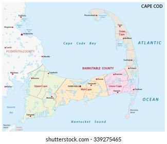 cape cod administrative map