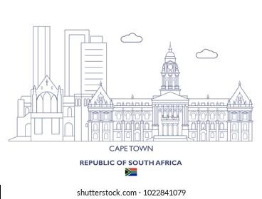 Cape Town Linear City Skyline, South Africa