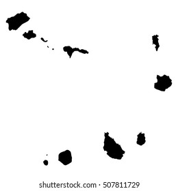 Cape Verde black map on white background vector