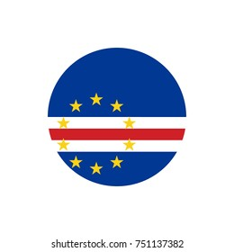 Cape Verde flag, official colors and proportion correctly. National Cape Verde flag. Vector illustration