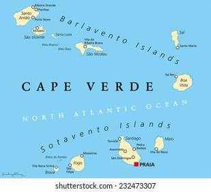 Cape Verde Map Images, Stock Photos & Vectors | Shutterstock