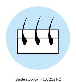 capillary hair symbol