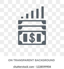 Capital gain icon. Capital gain design concept from Capital gain collection. Simple element vector illustration on transparent background.