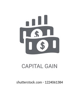 Capital gain icon. Trendy Capital gain logo concept on white background from business collection. Suitable for use on web apps, mobile apps and print media.