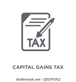 Capital gains tax icon. Capital gains tax design concept from Capital gains tax collection. Simple element vector illustration on white background.