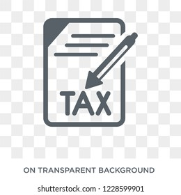 Capital gains tax icon. Capital gains tax design concept from Capital gains tax collection. Simple element vector illustration on transparent background.