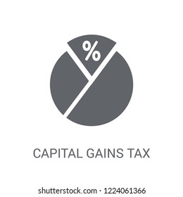 Capital gains tax icon. Trendy Capital gains tax logo concept on white background from business collection. Suitable for use on web apps, mobile apps and print media.