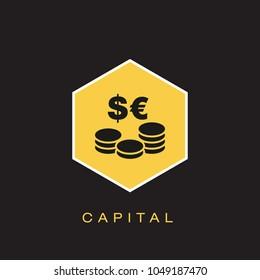 Capital Icon Concept