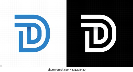Capital letter D. Letter D logo icon design template elements