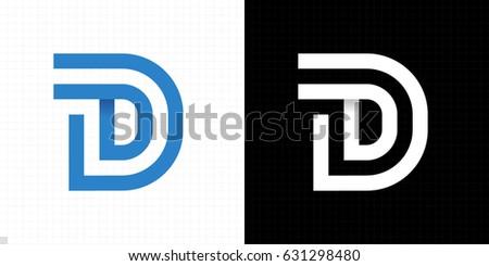 Capital Letter D Letter D Logo Stock Vector Royalty Free 631298480