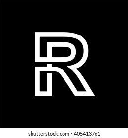Vintage Set Capital Letter R Monograms Stock Vector Royalty Free