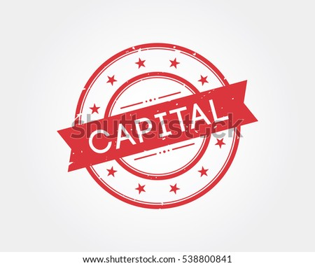 Capital Stamp Sign Stock Vector Royalty Free 538800841
