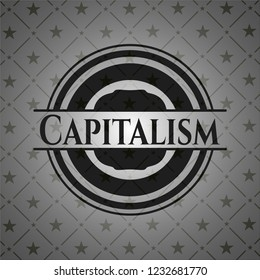 Capitalism dark emblem. Retro